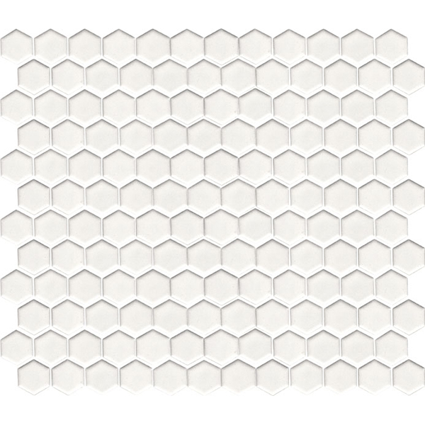 Hexagon Mosaic White Matt