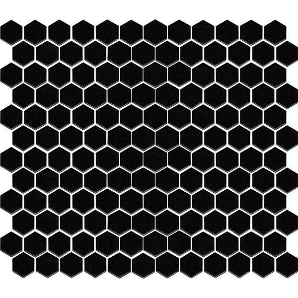 Hexagon Mosaic Black Matt