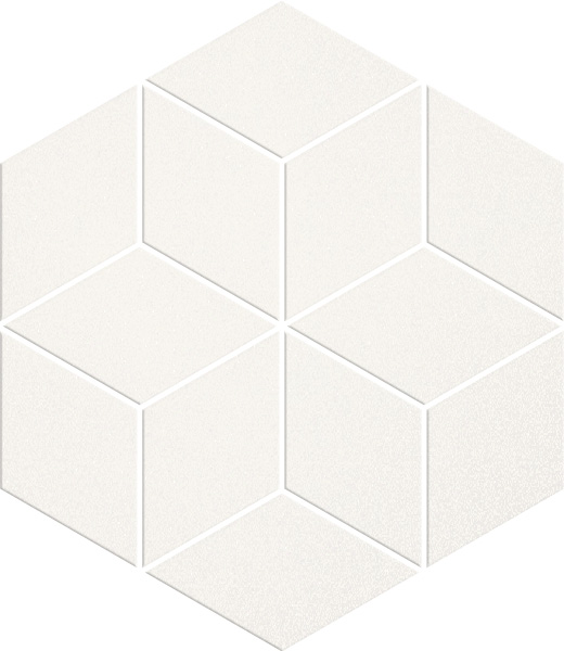 Matrix Diamond White Matt Mosaic