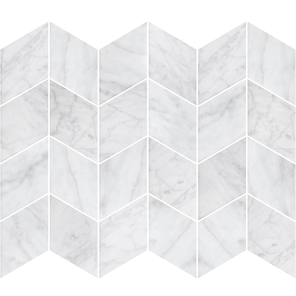 Stone Chevron Italian Carrara Honed