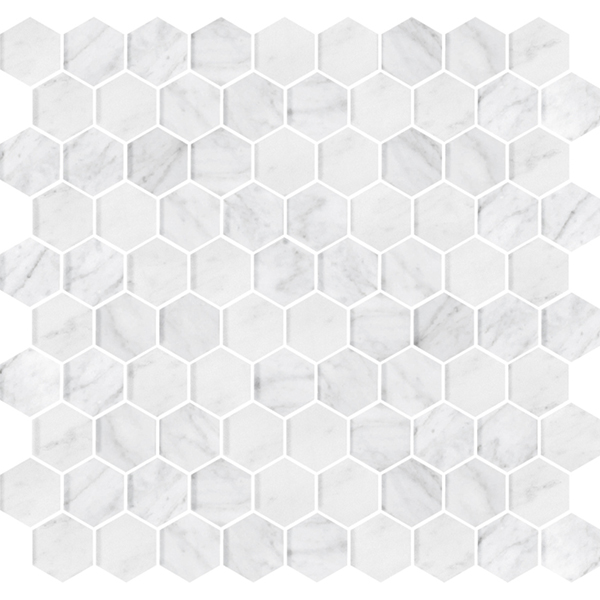 Stone Hex Italian Carrara Honed