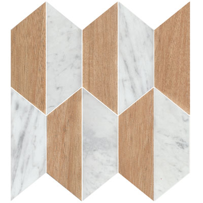 GEOMETRIC POLY TIMBER CARRARA C MIX HONED