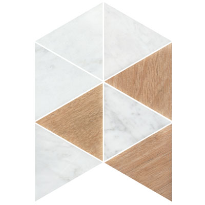GEOMETRIC TRIO TIMBER CARRARA C MIX HONED