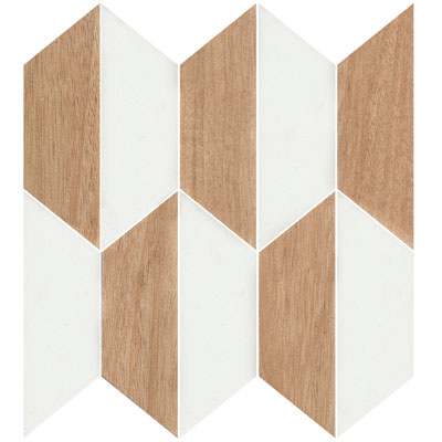 GEOMETRIC POLY TIMBER WHITE MIX MATT