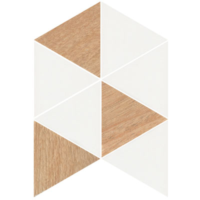 GEOMETRIC TRIO TIMBER WHITE MIX MATT